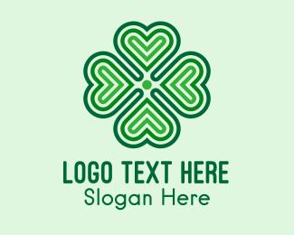 Lucky - Lucky Clover Heart logo design