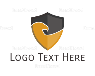 Fortune - Gold Eagle Shield logo design