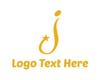 Channel - Golden Star J logo design