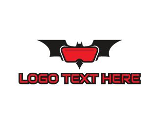 Animal Mascot - Bat VR Gaming logo design