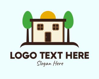 Suburbs - Cottage House Property  logo design