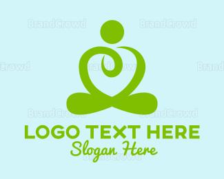 Meditation - Heart Meditation logo design