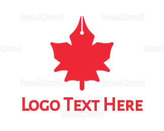Canadian - Canadian Writer logo design