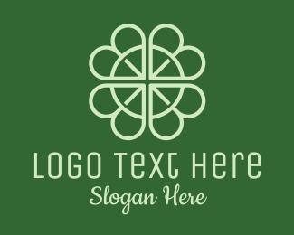 Spa - Lucky Shamrock Clover logo design