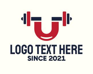 """Magnet Fitness Gym Letter U"" by SimplePixelSL"