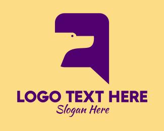 Online Consultation - Dog Chat Message  logo design
