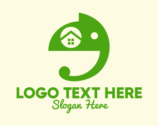 Animal Clinic - Green Elephant Home  logo design