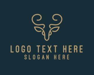 Antelope - Golden Deer logo design