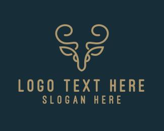 Sophisticated - Golden Deer logo design