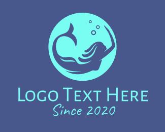 Swimwear - Sea Mermaid Circle logo design