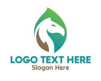 Horse - Leaf Horse logo design