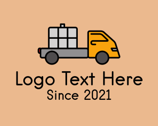 Shipping Service - Cargo Delivery Truck  logo design