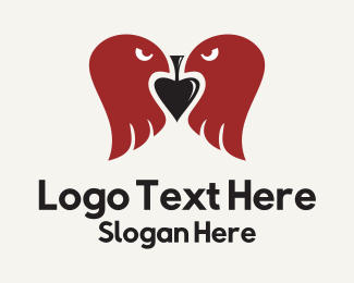 Poker - Twin Eagle Spade logo design