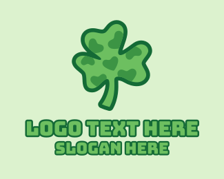 Saint Patrick - Natural Lucky Clover  logo design