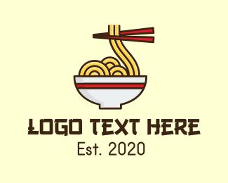 Resto - Noodle Restaurant logo design
