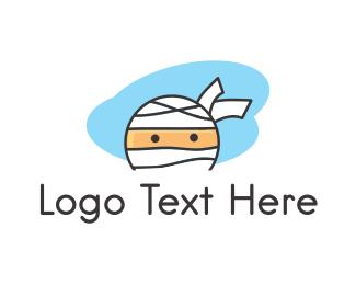 Funny - Mummy Ninja Face logo design
