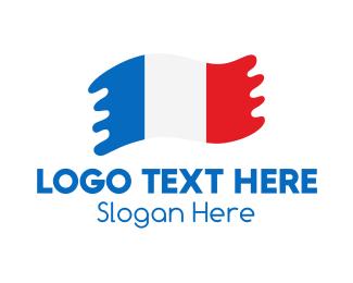 Government - Modern French Flag logo design