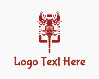 Poisonous - Red Scorpion logo design