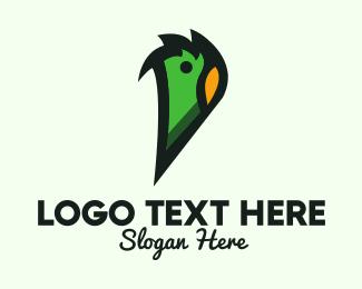 Rainforest - Green Parrot Letter P logo design