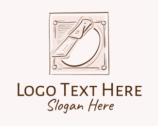 Sketching - Vintage Poultry Farm logo design