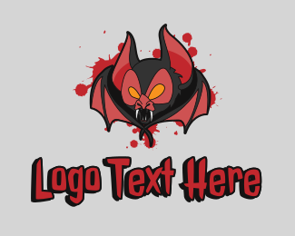 Killer - Bloody Vampire Bat logo design