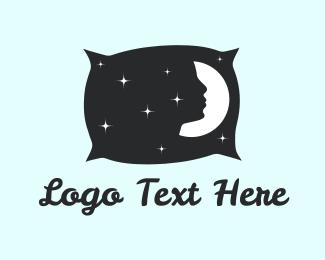 Nap - Night Pillow logo design