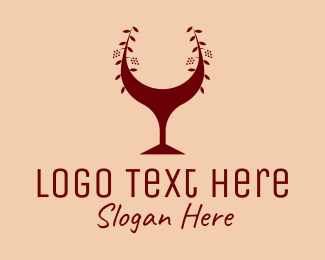 Margarita - Red Wine Glass Bar logo design