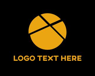 Yellow Pie Chart Logo