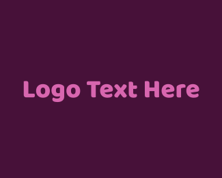 Glam - Purple Wordmark logo design
