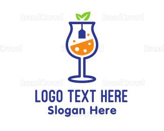 Sparkling - Wine Tea  logo design