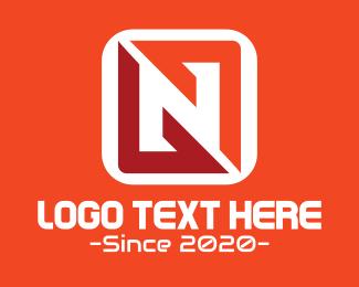 Fortnite - Gaming App Letter N logo design