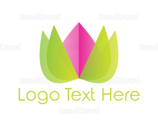 Flower Shop - Lotus Flower logo design