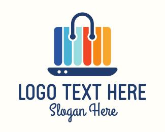 Online Shopping - Colorful Online Shopping Bag logo design