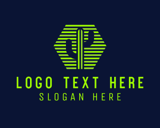 Mojave - Hexagon Stripe Cactus  logo design