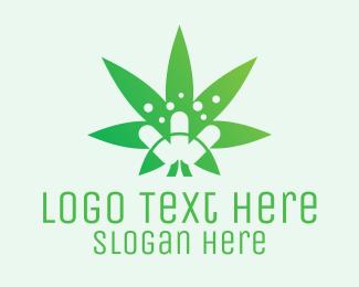 Pills - Medicinal Marijuana Leaf logo design