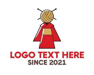 Fashion Designer - Japanese Kimono Fashion logo design