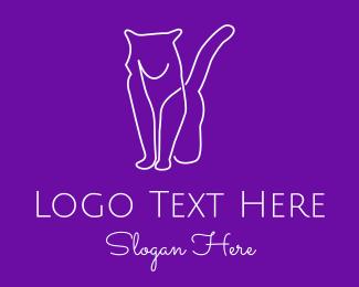 Simple - Simple Cat logo design