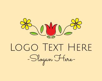 Simple - Simple Florist Banner logo design