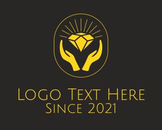 Auction - Gold Diamond Jewel logo design