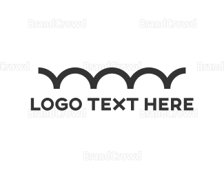 Bounce - Minimalist Bumpy Line logo design