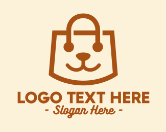 Pet Accessories - Cute Puppy Bag  logo design