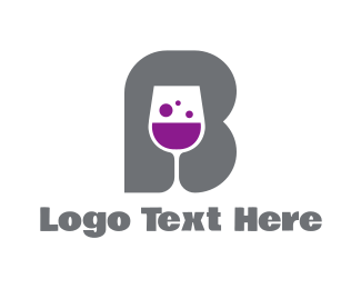 Gastro - Wine Glass B logo design