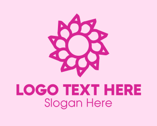 Maroon - Maroon Flower logo design
