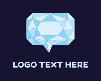 Interaction - Diamond Chat logo design