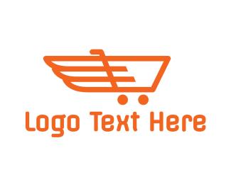 Forward - Cart Wings logo design