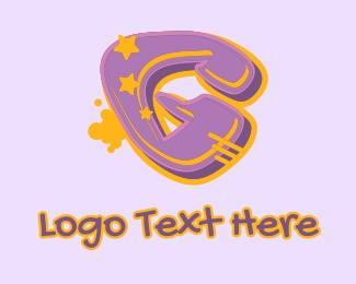 Record Producer - Graffiti Star Letter G logo design