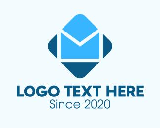 Letter - Blue Mail Envelope logo design