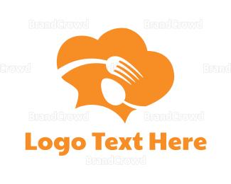 Canteen - Orange Food Cloud logo design