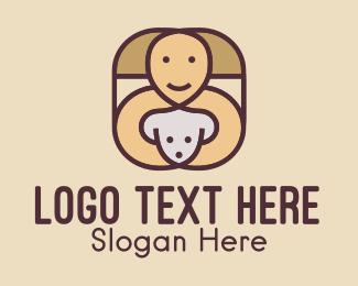 Pet Love - Happy Dog Trainer  logo design