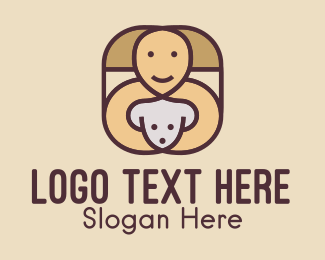 Trainer - Happy Dog Trainer logo design